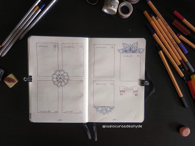 semana vista mandalas bullet journal mayo 2020