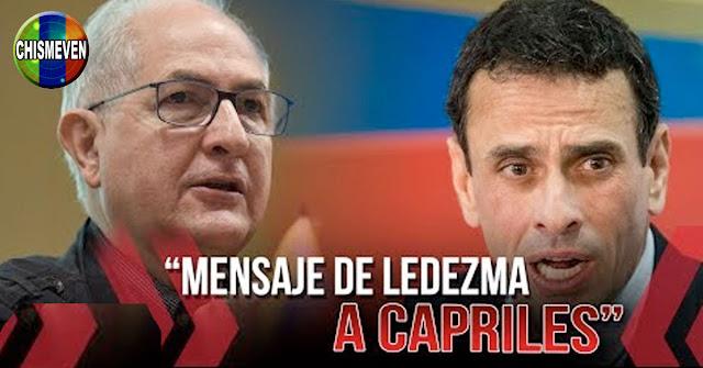 Ledezma le da hasta con las cholas a Henrique Capriles por la traición
