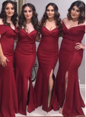 Elegant Burgundy Mermaid Bridesmaid Dresses
