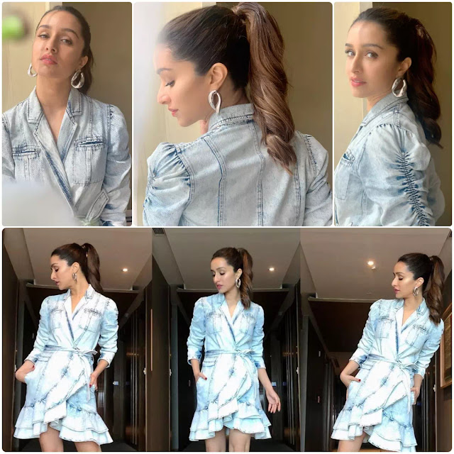 Shraddha Kapoor High Wavy Ponytail