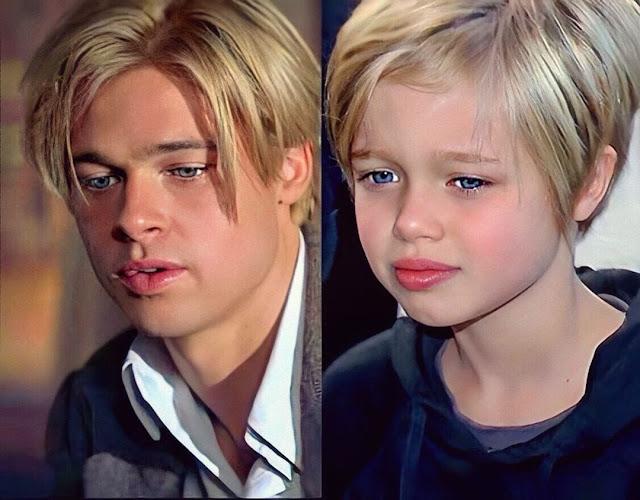 Brad Pitt and Shyla (John) Jolie-Pitt