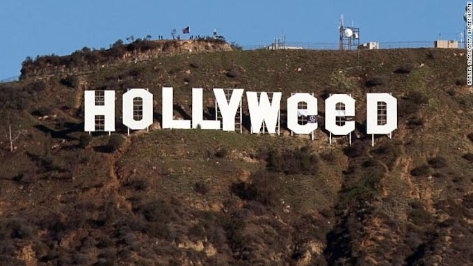 'Hollywood' sign changed to 'Hollyweed' in new year prank