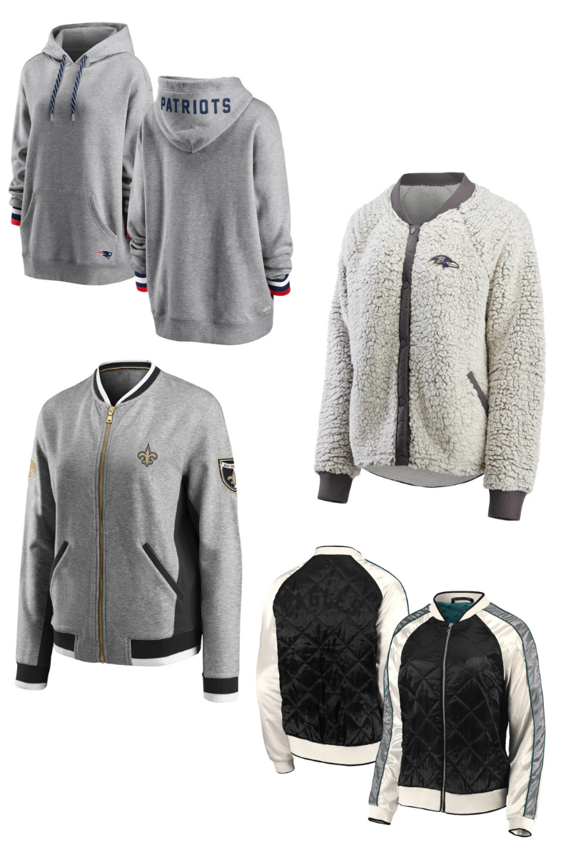 NFL sweaters and jackets