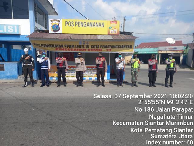 PPKM Level lV Wilayah Pematang Siantar, Ops Penyekatan Dilakukan Personel Jajaran Kodim 0207/Simalungun Dan Instansi Terkait