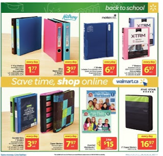 Walmart back to school flyer August 10 to 16, 2017