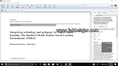 Tampilan Mendeley's PDF Viewer