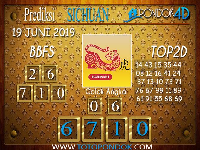 Prediksi Togel SICHUAN PONDOK4D 19 JUNI 2019