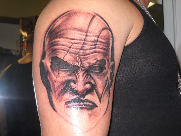 Corvier Art Kratos God Of War Tattoo