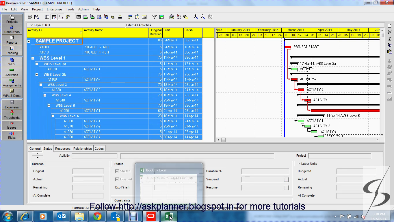 Exporting the primavera data into excel with same color formatting now press ctrla to select all the rows and columns in the primavera schedule and copy all the selected data baditri Image collections