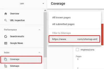 Coverage Google Console