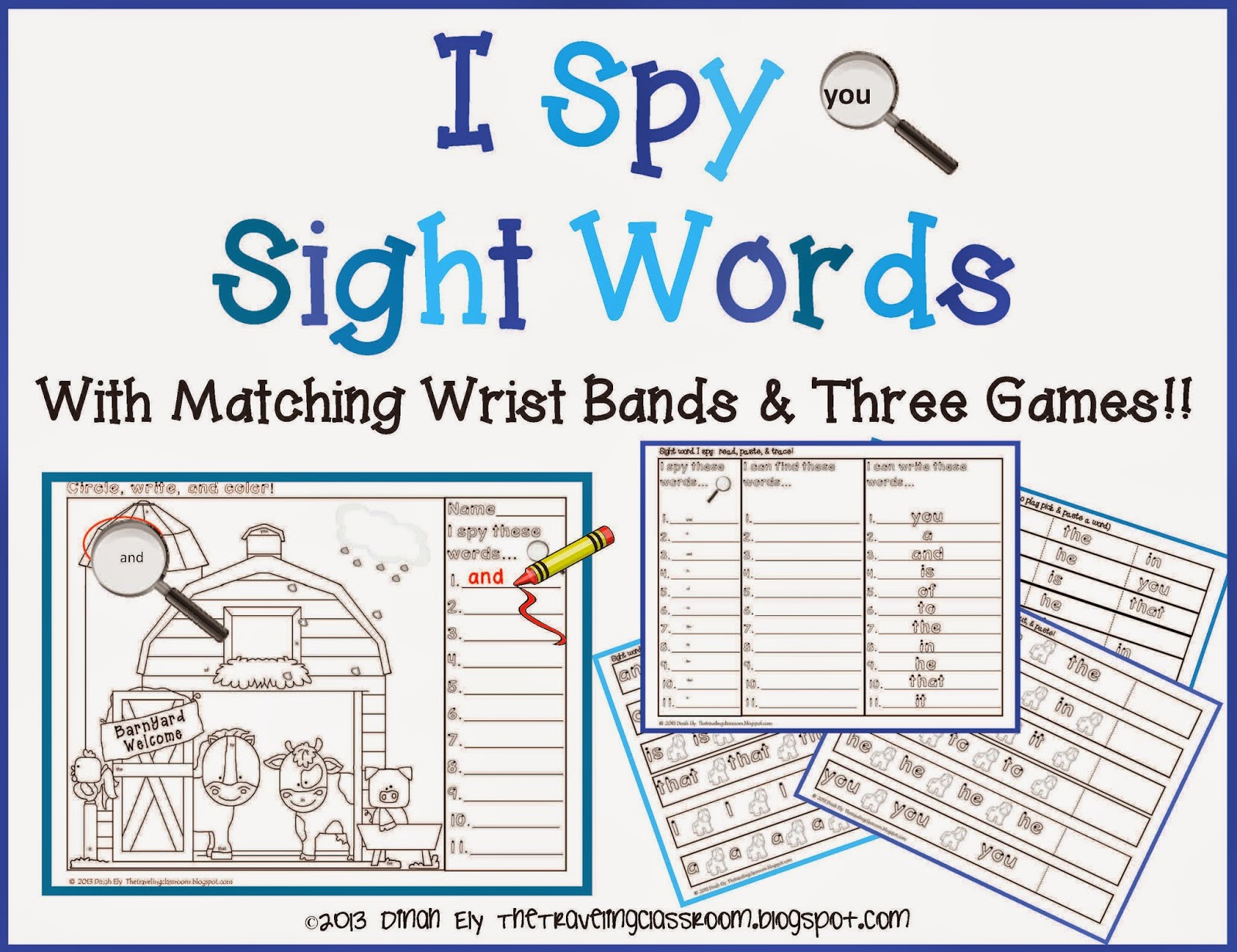 The Traveling Classroom Free I Spy Sight Words With