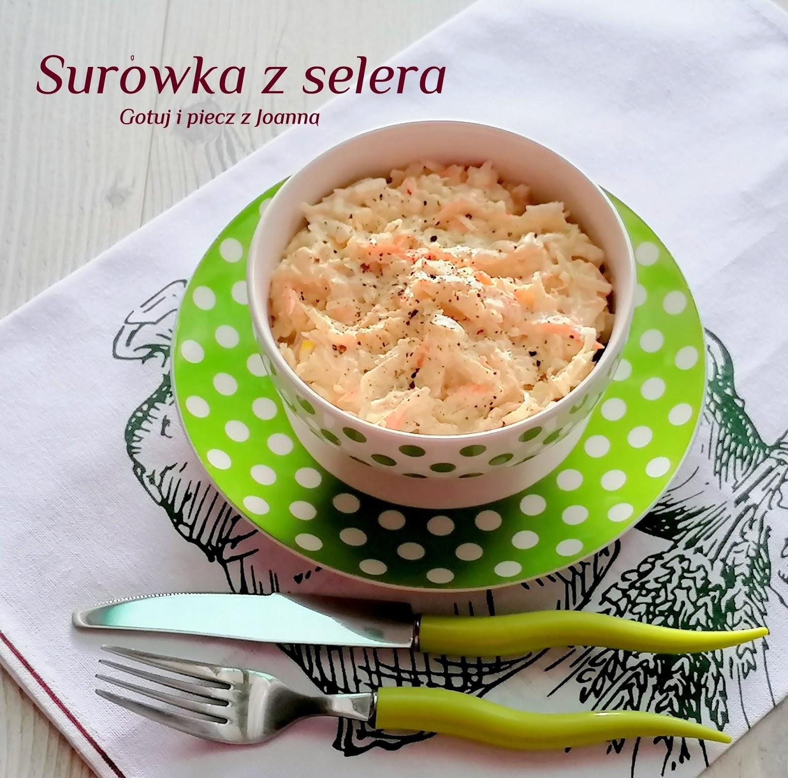 Surówka z selera,marchewki i jabłka-pyszna