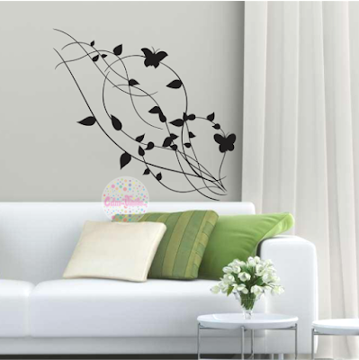 vinilo decorativo pared floral