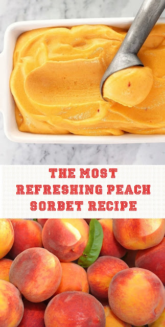 The Most Refreshing Peach Sorbet Recipe