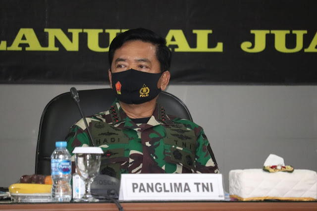 Panglima TNI dan Kapolri Rapat Bersama Terkait Covid-19 Di Jawa Timur