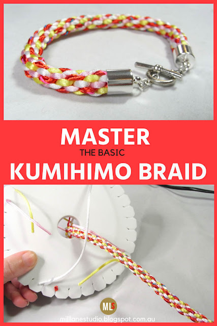 Learn how to master the basic Kumihimo Braid
