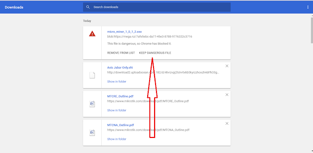 Cara Mengatasi Download Aplikasi Yang di Blocked di Google Chrome