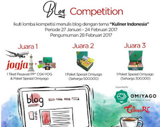 Lomba Blog Kuliner Indonesia Deadline 24 Februari 2017
