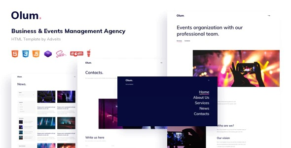 Events Management Agency HTML Template