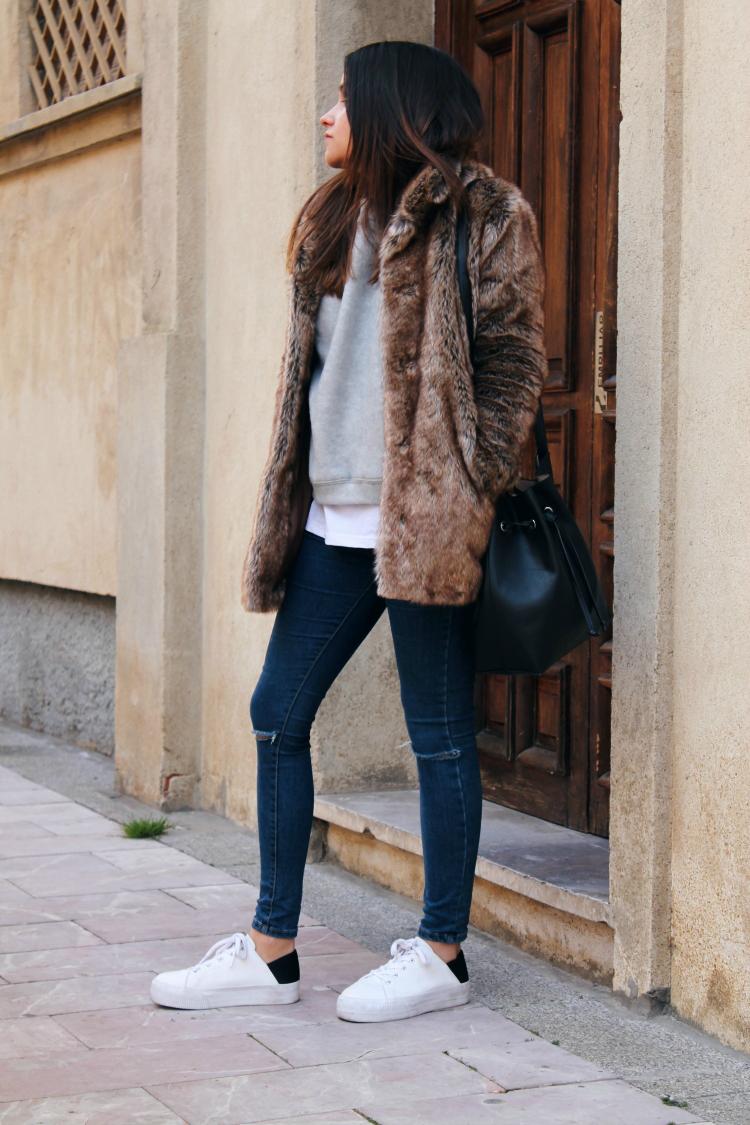 abrigo de pelo blog moda leon
