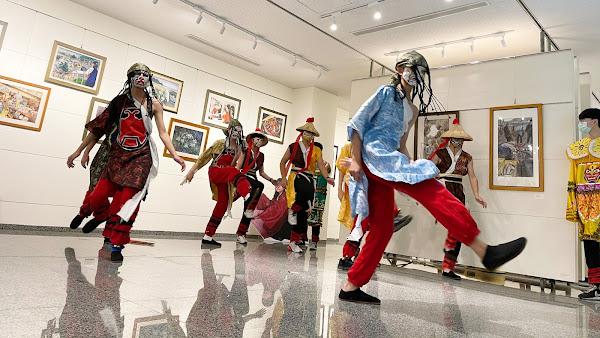 明倫國中美術班畢業展 現代八家將翻轉傳統藝陣