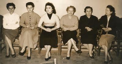 Jugadoras participantes en el Campeonato Femenino de Ajedrez de Catalunya 1955