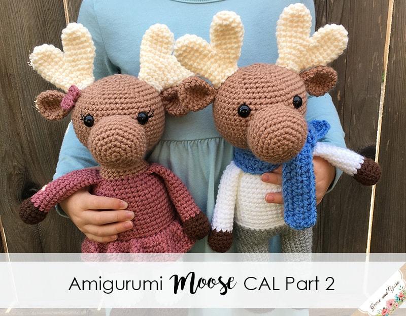 Amigurumi Moose Cal Part 2 Grace And Yarn