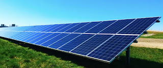 renewable energy through Solar panels