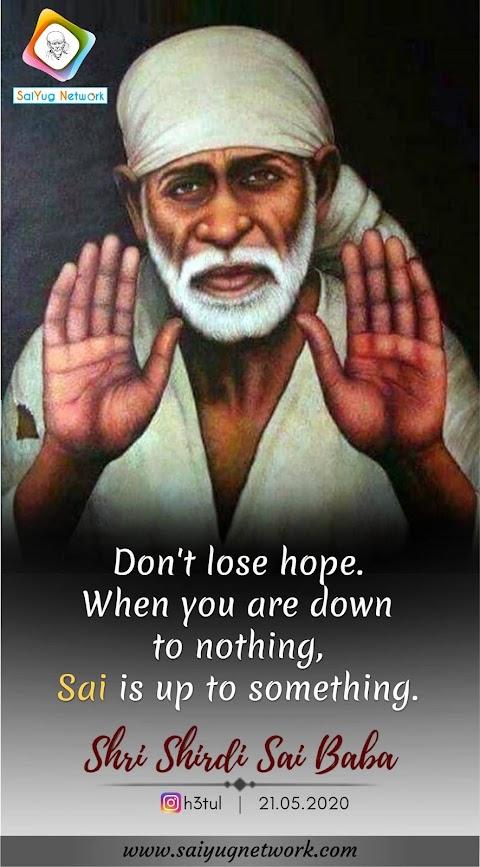 Hope - Sai Baba Blessing Hand Painting Image