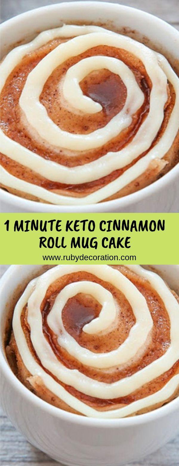 1 MINUTE KETO CINNAMON ROLL MUG CAKE #cake #dessert