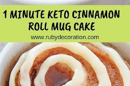 1 MINUTE KETO CINNAMON ROLL MUG CAKE #cake #dessert #keto