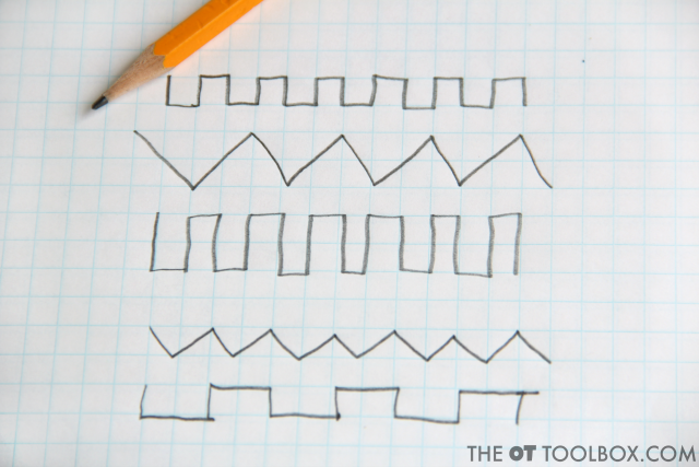 Use this free pencil control exercise to help kids work on handwriting legibility.