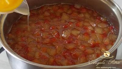 Dulceata din coji de pepene rosu - etapa 4