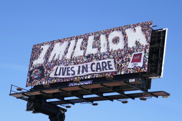 1 Million Lives in Care AHF billboard