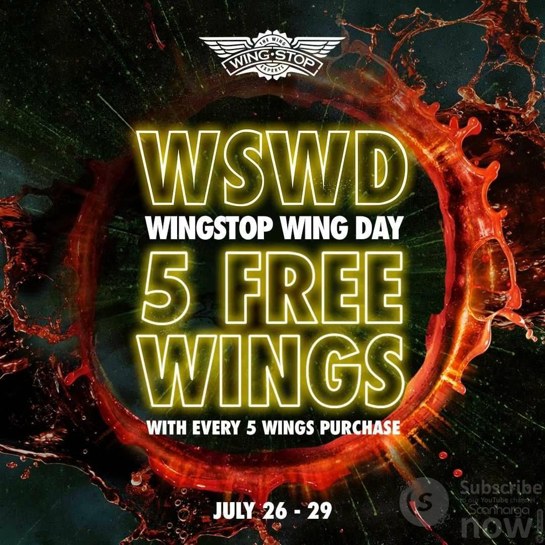 Promo Wingstop WSWD Wings Day - Beli 5 Gratis 5