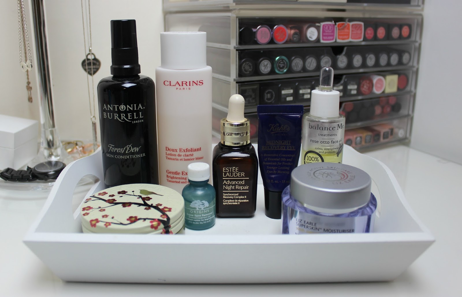 A picture of skincare products for oily and combination skin.