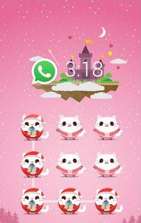 Cute Kitty CM Security Theme Apk