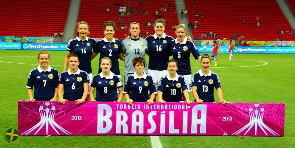 Formación de selección femenina de Escocia ante Chile, Torneio Internacional de Brasília 2013, 18 de diciembre