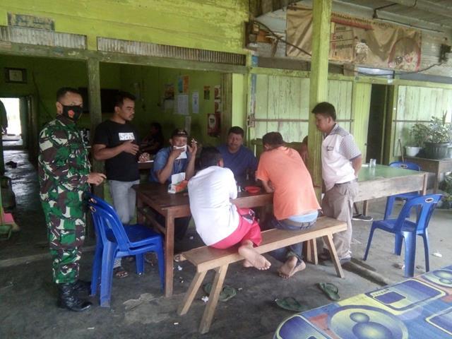 Penegakan Disiplin Protokol Kesehatan Diwilayah Binaan DIlakukan Personel Jajaran Kodim 0207/Simalungun