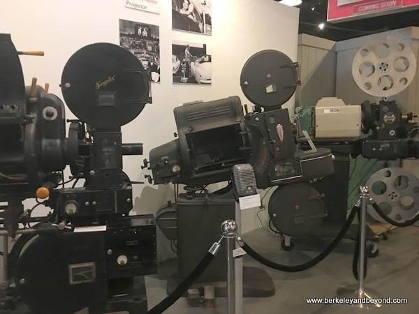 vintage cameras displayed at Museum of Western Film History in Lone Pine, California
