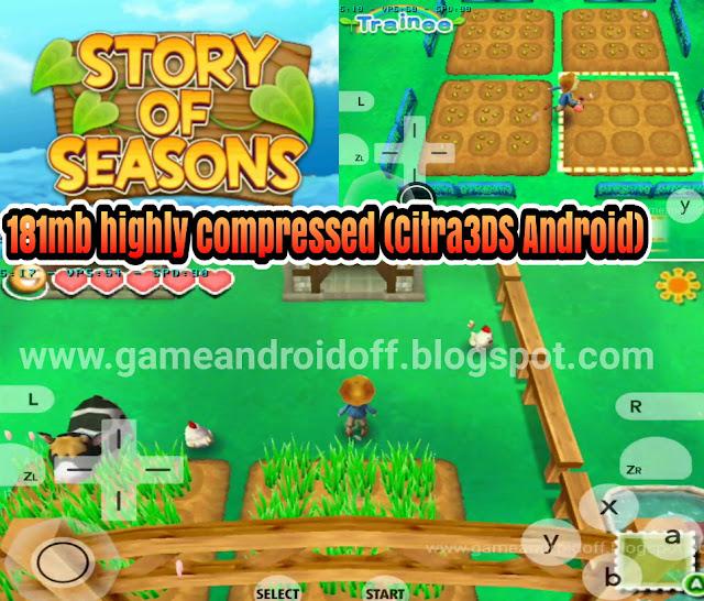 Story of Seasons (Citra3DS EMU) game berkebun seru android emulator 3ds 181mb highly compressed
