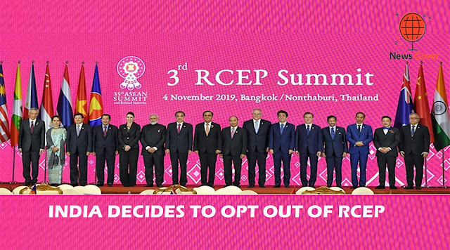 India RCEP- India decides to opt out of RCEP | News Cover