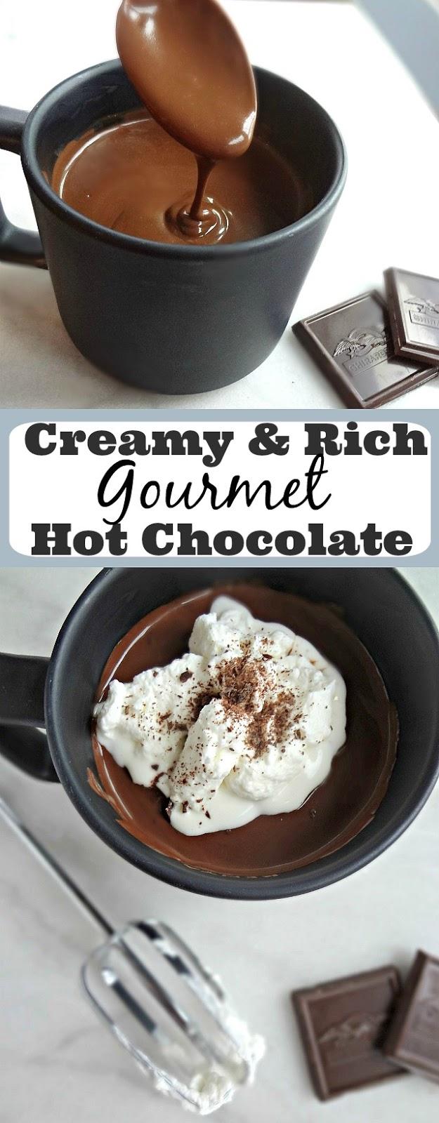 Creamy & Rich Gourmet Hot Chocolate