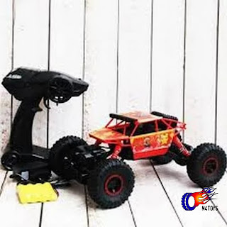Mobil Remot 4WD Rock Crawler Hero Car Offroad 2.4Ghz 1 : 18 Orange