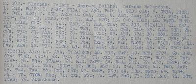 Partida de ajedrez Tejero-Ballbé, IV Campeonato de España por equipos 1960