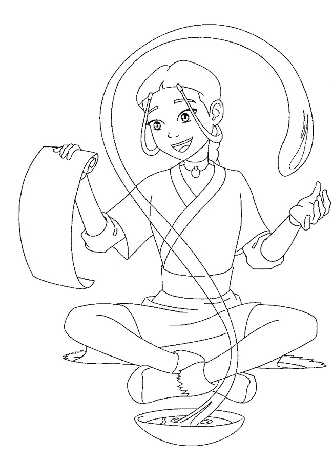 avatar the last airbender coloring pages