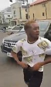 "Man jumps out of Benz, starts shouting ""I don't need your money again, stop following me"" (Video)"