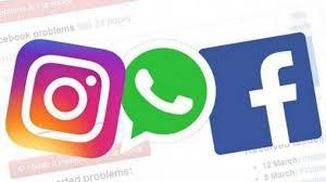 Imagem com símbolos do Instagram, Whatsapp e Facebook. As principais redes de venda de peças pela internet