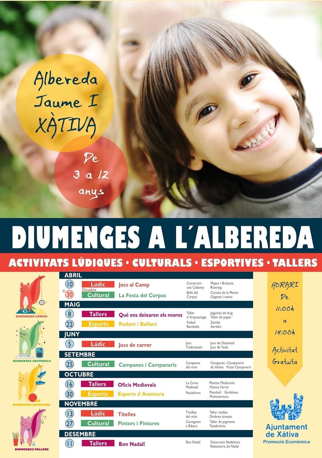 Quatre fulles activitats per a xiquets es diumenges a l for Pisos xativa 9 d octubre xativa
