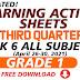 WEEK 1-6 ANSWER SHEETS FOR SLM Q3 GRADES 1